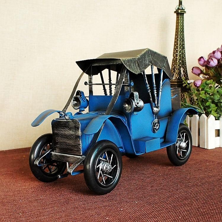ФОТО 1211 Vintage Car Model Handmade Iron Gran Torino Home Table Ornaments