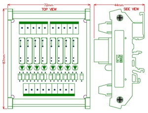 Image 5 - Slim מסילת DIN הר DC12V כיור/NPN 8 SPST NO 5A כוח ממסר מודול, PA1a 12V