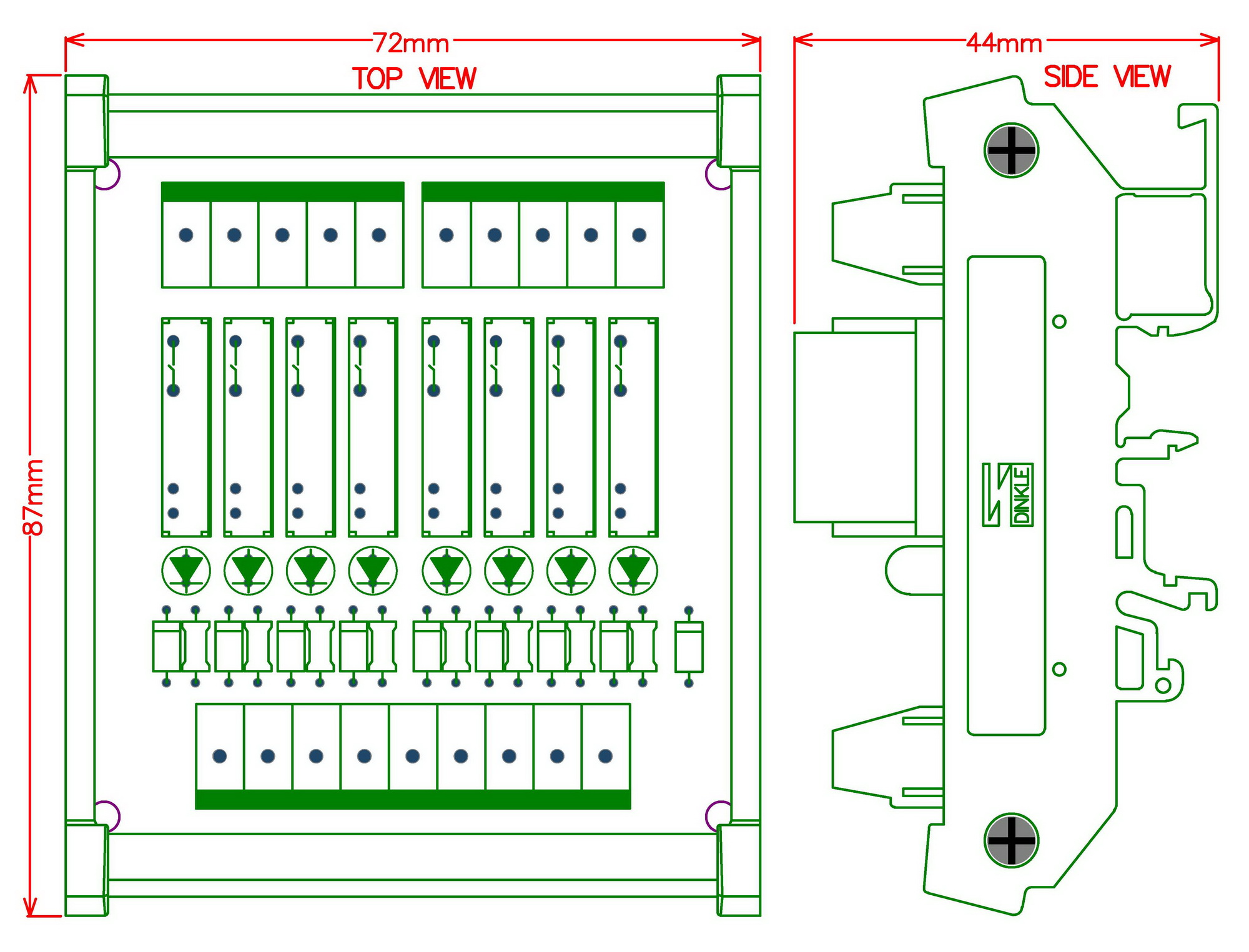 Image 5 - Slim DIN Rail Mount DC12V Sink/NPN 8 SPST NO 5A Power Relay Module, PA1a 12V-in Electronics Stocks from Electronic Components & Supplies