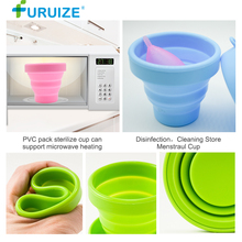 Menstrual Sterilizing Cup Recyclable Clean cup Support Microwave Heat Sterilizer Feminine Hygiene
