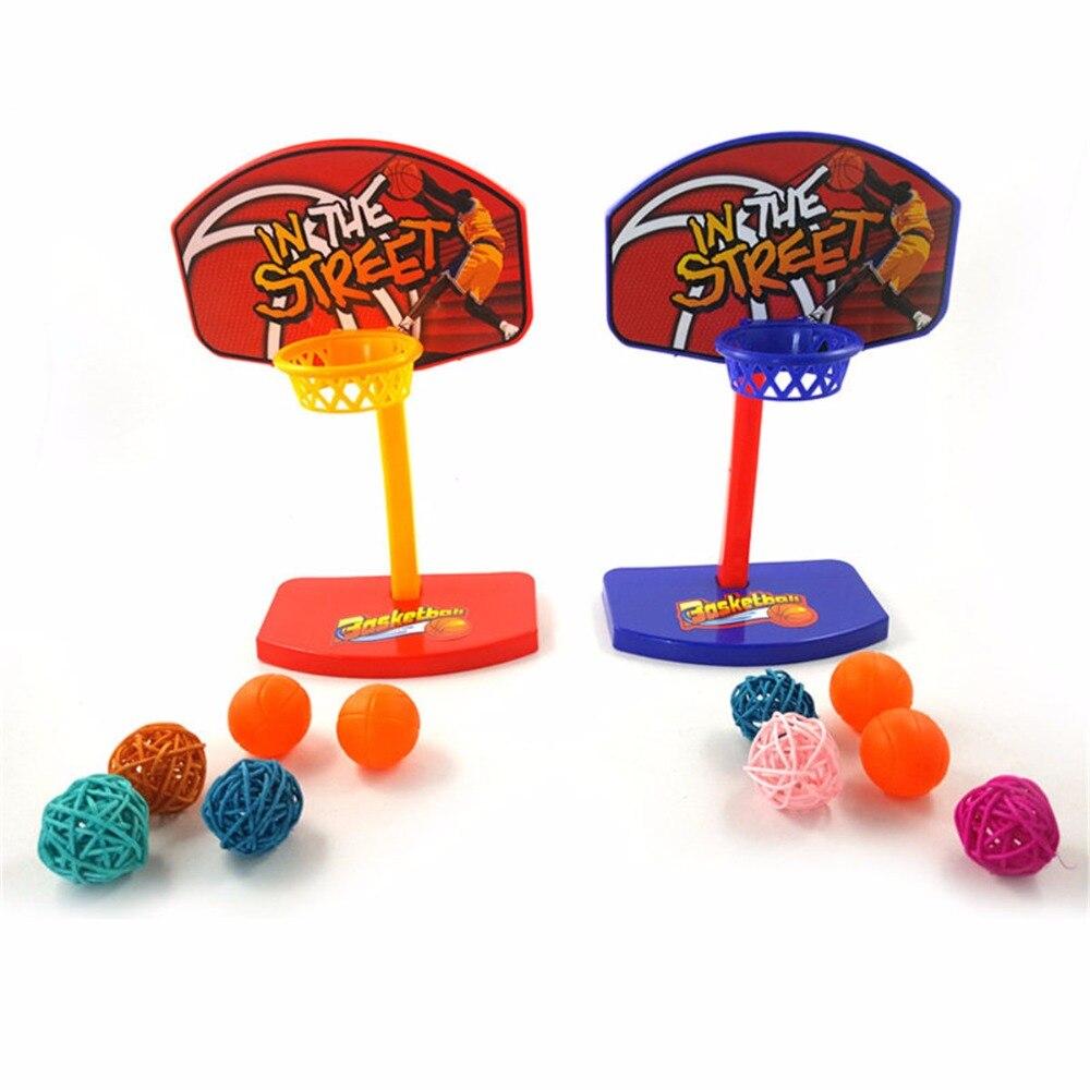Hot Plastic Pet Bird Chew Toy 5pcs Balls Parrot Parakeet Budgie Basketball Toy Hoop Props Birdie Small Animal Training Supplies