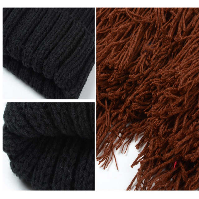 2a2acf2ed38 2018 Novelty Knitted Autumn Winter Men Caps Viking Beanies Beard Hats Funny  Cool Hat For Party