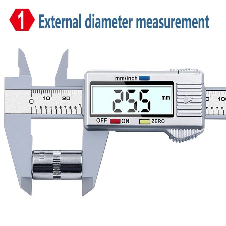 XINGWEIANG цифровой штангенциркуль Calipers150mm 6 дюймов электронная ЖК-доска для углеродное волокно датчик приборы для измерения высоты микрометр