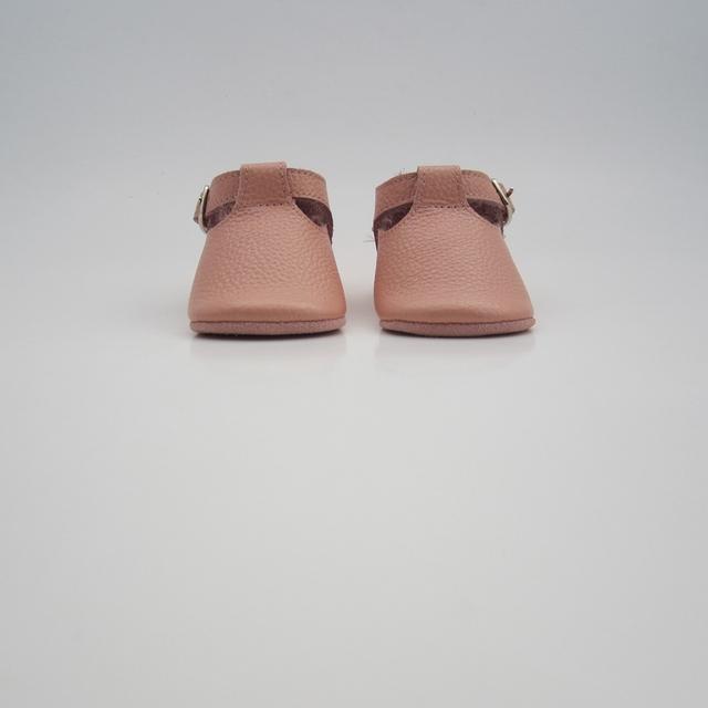 Barato al por mayor rosa t-bar embroma los zapatos de bebé mocasines de Suela Suave Zapatos de Bebé de Diseño