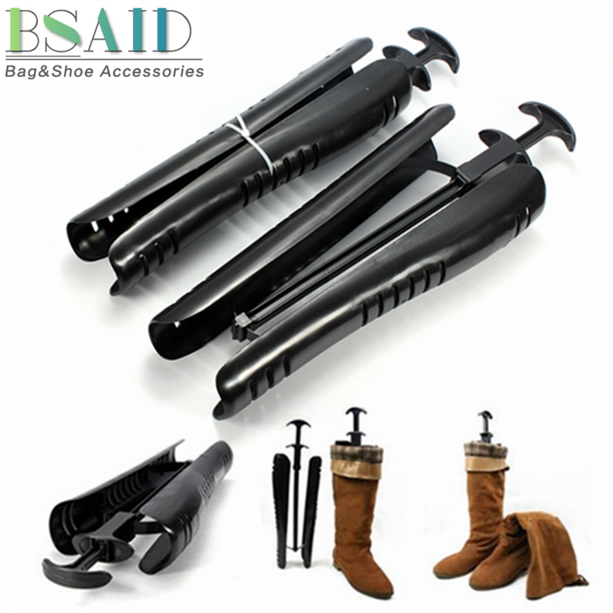 BSAID 1 Pair Long Shaper Supporter Boot Stand Boots Expander, Shoe Stretcher Shoes Tree Rack Support Shaft Keeper Holder Storage 10pcs asds 1 pair 12 inch white film inflatable boot stretcher shaper shoe tree