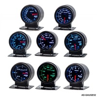 Car Gauge Meter 12V 52mm 2 Inches 7 Colors Universal Car Auto Tachometer Gauge LED With