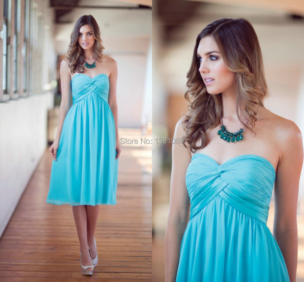 Popular teal blue bridesmaid dresses buy cheap teal blue for Blue beach wedding dresses