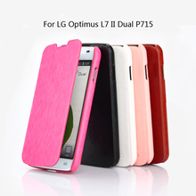 9d0ca13b149 Para LG Optimus L7 II Dual P715 caso de lujo PU funda Flip de cuero para