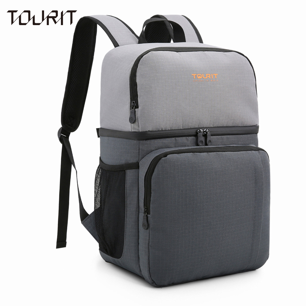 TOURIT Insulated Cooler Backpack Dual Insulated Compartment Light Lunch Backpack with Cooler for Hiking Camping Beach Park Trips цена 2017
