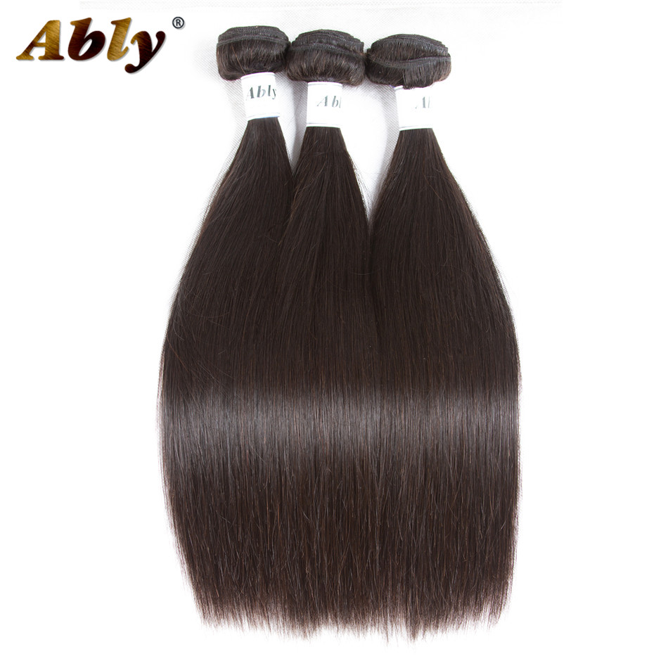 Ably Hair Brazilian Straight Human Hair 3 Bundles Remy Human Hair Weave Extensions Full And Bouncy Weave Brazilian Straight Hair