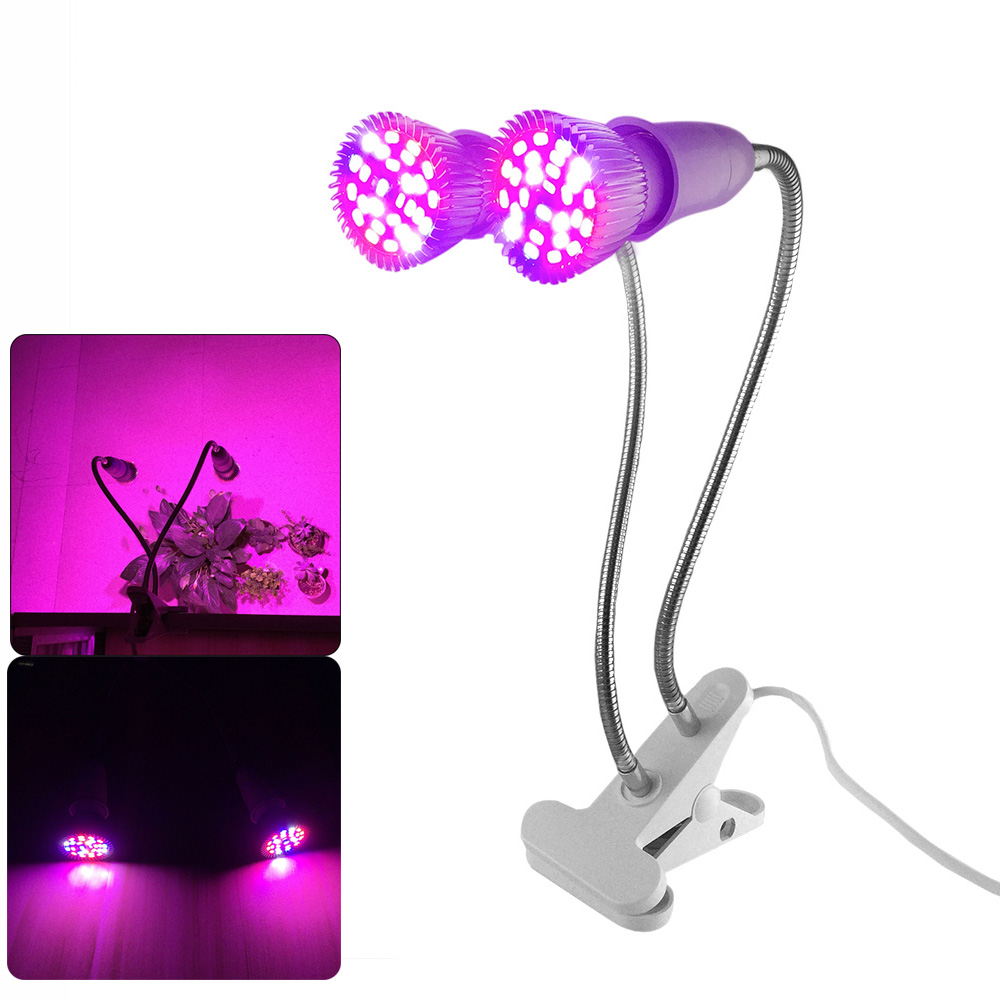Full Spectrum Led Grow Light Plant Flower Seeds UV IR Lamp Bulbs Clip Set For Veg Hydroponic Indoor Room Greenhouse Cultivation