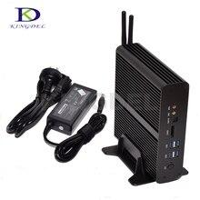 Маленький компьютер Окна 10 NUC Intel i7 5550U/5500U Mini PC 2 * lan + 2 * HDMI + SPDIF + USB 3.0 WI-FI мини Business Desktop NC960