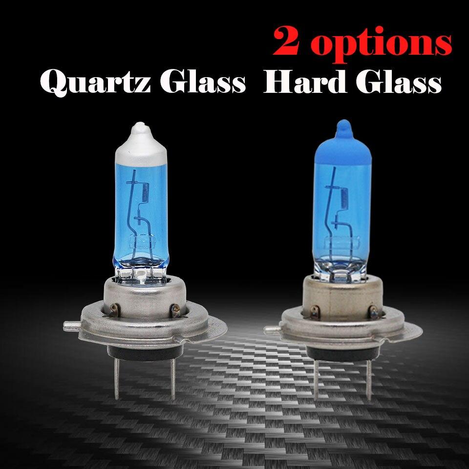 2 ШТ. H7 Галогенная Лампа 12 В 55 Вт 4300 К Super White Schoot Стекло ксеноновые Фары Автомобиля Лампы Свет Лампы Для Автомобилей Auto Лампа Бесплатно лампочки h7