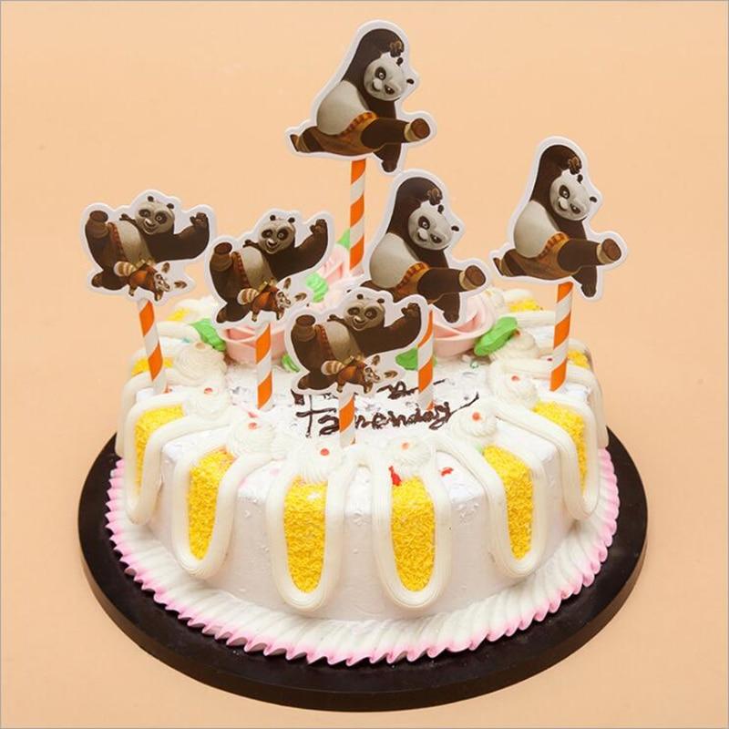 Miraculous Diweini 6Pcs Kung Fu Panda Cartoon Figure Diy Cupcake Toppers Funny Birthday Cards Online Alyptdamsfinfo