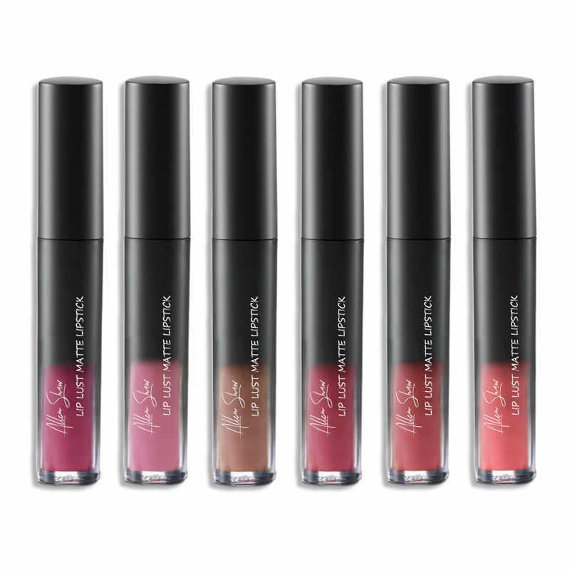 Mate brillo de labios 12 Color Nude impermeable lápiz labial líquido de larga duración labio maquillaje vino rojo brillo de labios suave Durable labio líquido