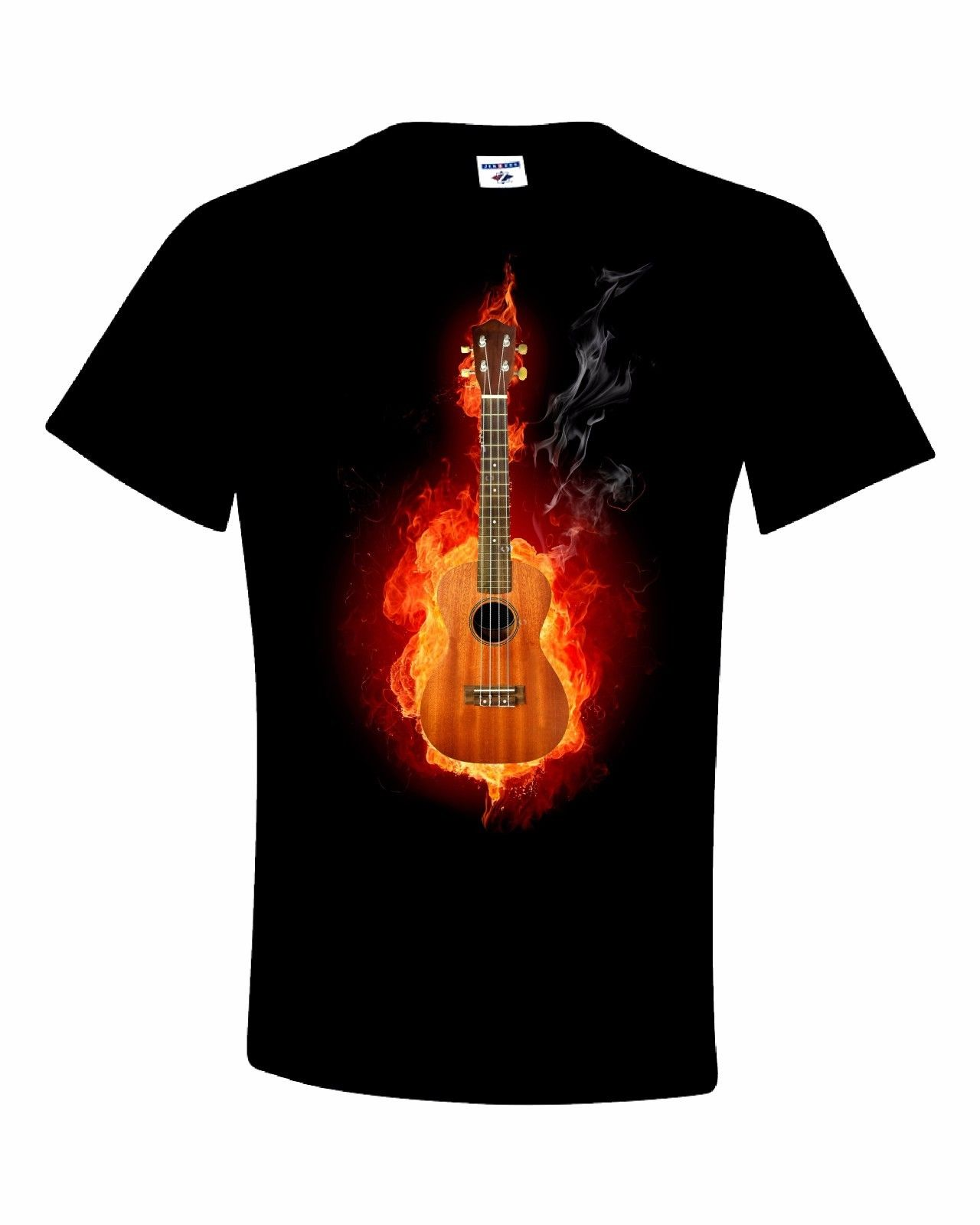 Fire Ukelele T Shirt 100% Cotton Tee by BMF Apparel
