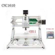 Control GRBL Diy mini CNC máquina láser CNC 1610 ER11, área de trabajo 16x10x4.5 cm, pcb 3 Ejes fresadora pvc, madera router