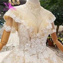 AIJINGYU ตุรกีชุดเจ้าสาว Gowns อินเดีย Sheer Robe แม่เจ้าสาวปาร์ตี้สองชุด Petite งานแต่งงานชุด