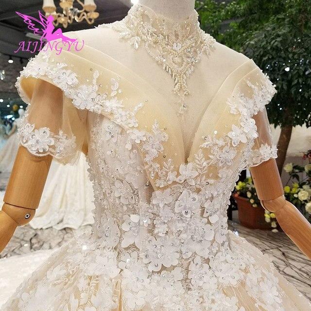 AIJINGYU turquie robes de mariée Robe indienne pure Robe mère de la mariée en fête deux en un Robe Petite robes de mariée