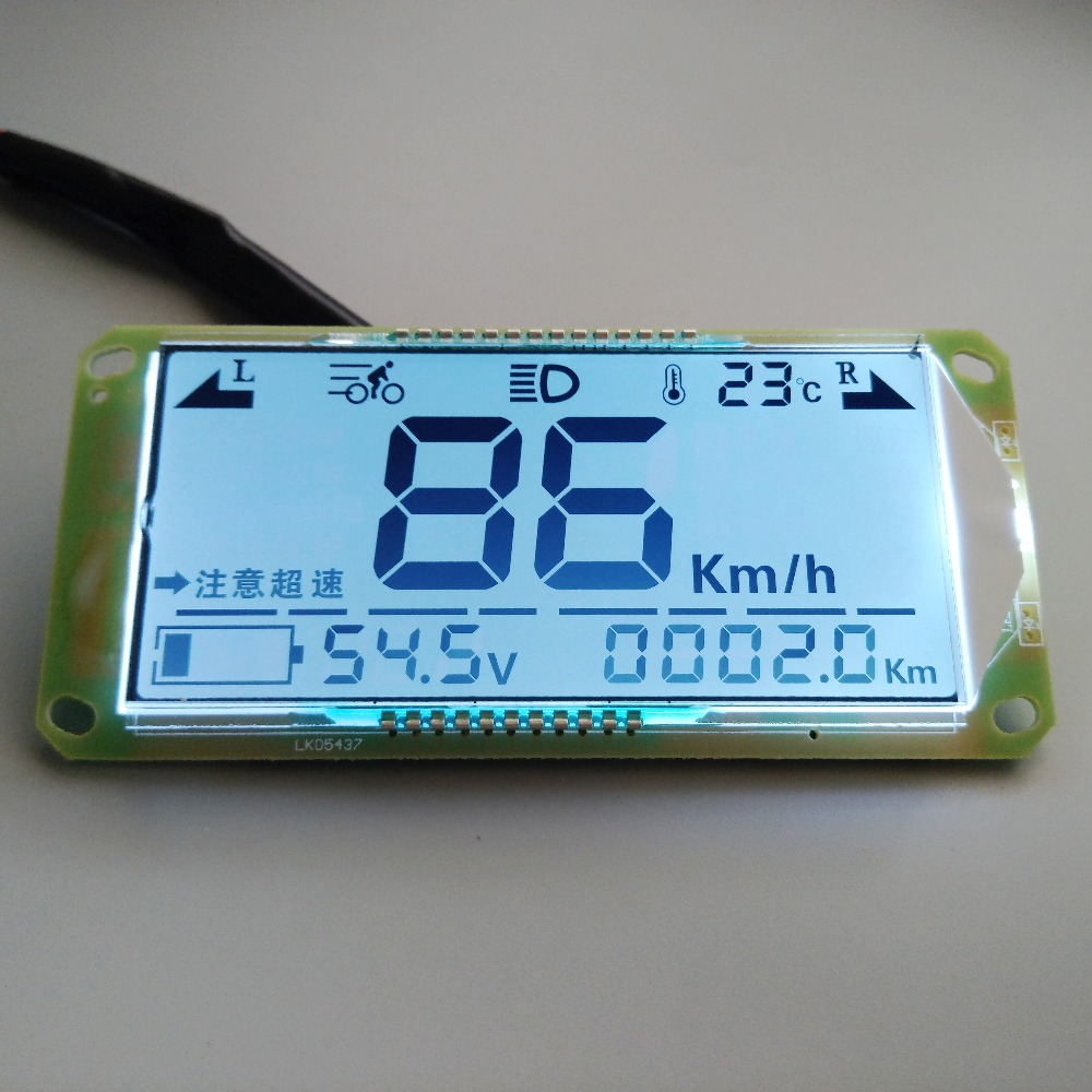 LCD Display Battery Car Electric Instrument Panel Universal 48V60V72V84V Electricity Meter Voltmeter