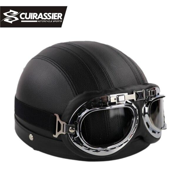 Cuirassier Ch08 Motorcycle Harley Helmet Half Face Capacete Casco