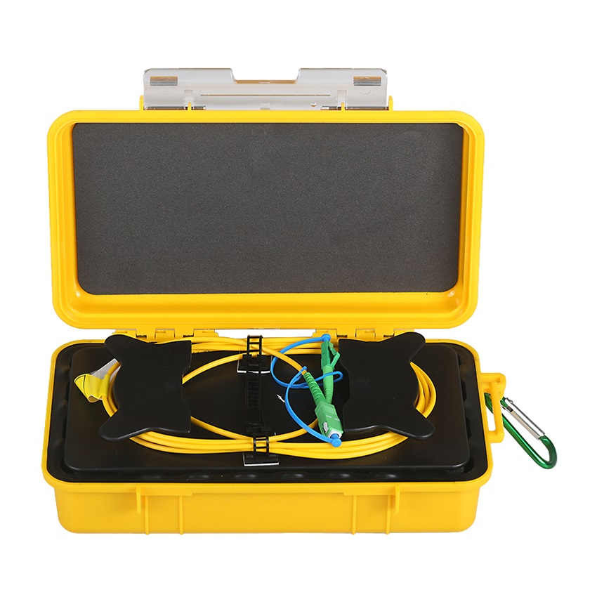 Fiber Optic OTDR Launch Cable Fiber Box 500m 1KM 2KM OTDR Dead Zone Eliminator (9)