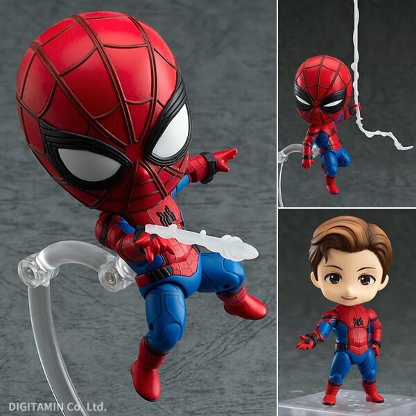 Anime Marvel Avengers Nendoroid 781 Cute Spiderman Kawaii Spider Man 10cm Action Figure Toys figma x man series spiderman figure no 001 revoltech deadpool with bracket no 002 revoltech spider man action figures