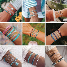 Ubuhle Bohemian Handmade Weave Rope Bracelets Set for Women Men  Fashion Couple Pulseira Wrap Friendship Charm Bracelet Bangles