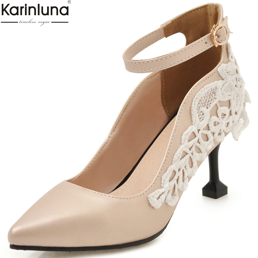 Karinluna new arrivals Large Size 31-43 mary janes pumps Woman Shoes pointed toe Office lady shoes woman Pumps femaleKarinluna new arrivals Large Size 31-43 mary janes pumps Woman Shoes pointed toe Office lady shoes woman Pumps female