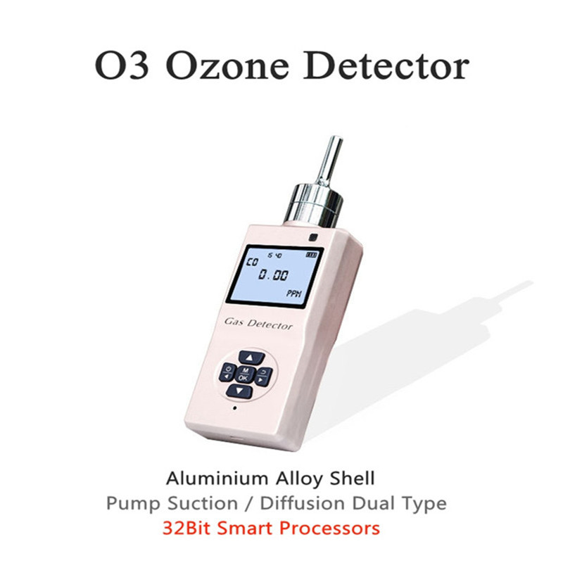 Portable O3 Ozone Photoion Gas Detector Pump Suction Gas Detection Metal Shell Gas Air Detector Low Power O3 Detector Sensor