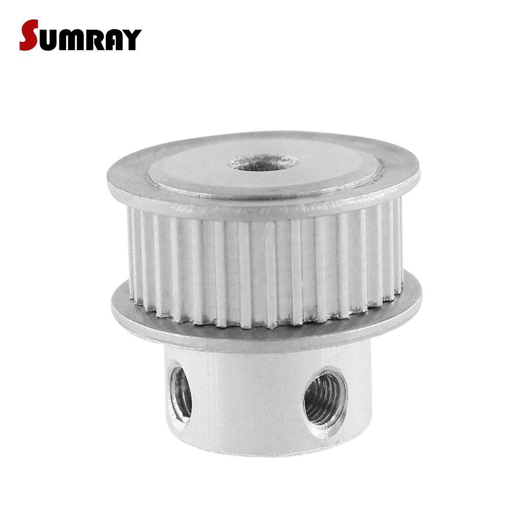 MXL 35-Teeth 5//6//6.35//7//8mm Bore 11mm Width Timing Belt Pulley For Stepper Motor