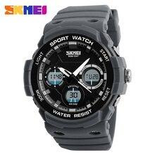 SKMEI Quartz Digital Watch Men Watches Waterproof PU Strap Sport Watch Chronograph Alarm Clock Military Wristwatch