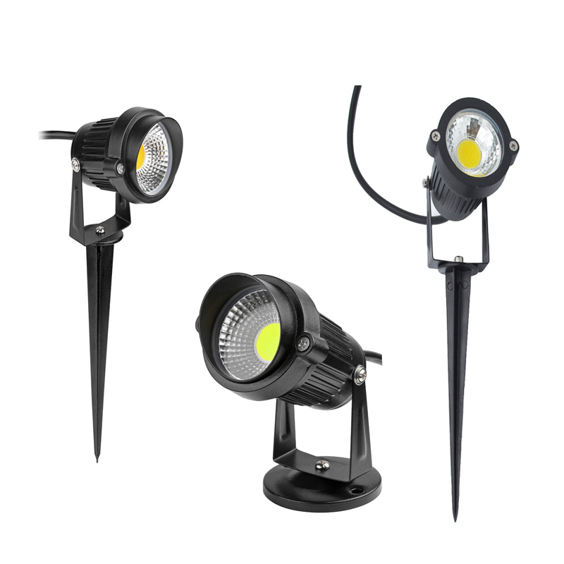 Waterproof Outdoor Garden Lawn Lamps 220V 110V 12V 3W 5W LED Lawn Light Spike Bulb Tuinverlichting Outdoor Lighting For Garden