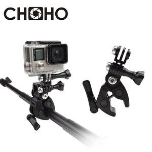 Monture d'arme à feu Archers fusil canne à pêche flèche retenue fixation de Base fixe fixation sur trépied pour GoPro Hero 8 7 6 5 3 + 4 Xiaomi YI 4K SJ5000