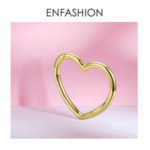 Image 3 - ENFASHION Heart Cuff Bangles For Women Accessories Gold Color Brass Bracelets Fashion Jewelry Friends Gifts 2020 Pulseira BC2006