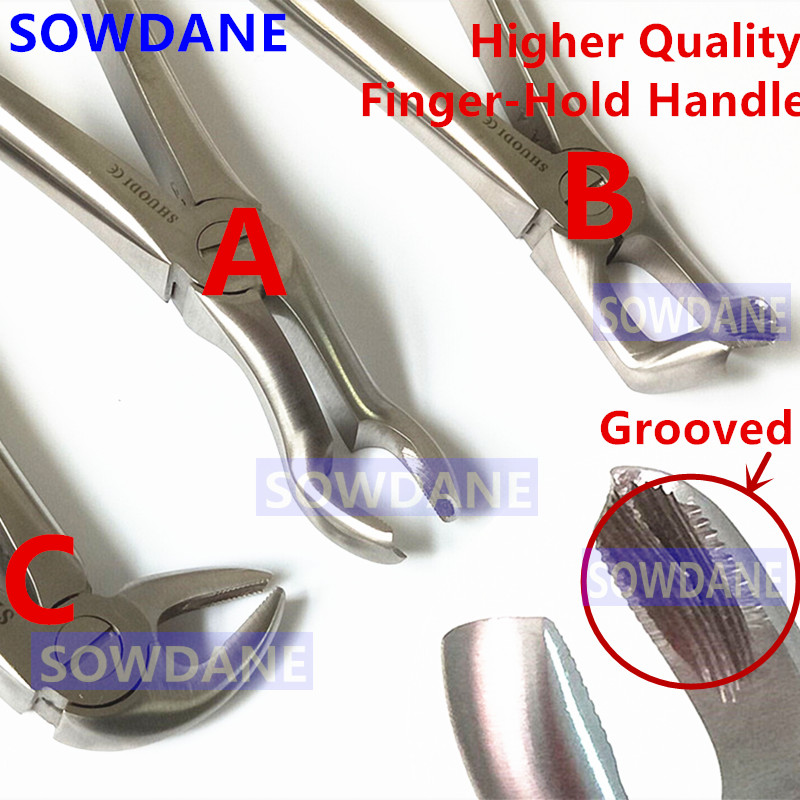 Stainless Steel Dental Tooth Extraction Forceps Adult Teeth Extracting Plier Forcep Surgical Tooth Dental Instrument Tool