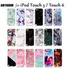 For iPod Touch 5 Apple iPod Touch 6 Coque Clear Soft TPU Silicone Marble Back Cover Case For Apple iPod Touch 5 6 6th Generation