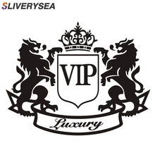 SLIVERYSEA 14 ซม.* 11 ซม.สติกเกอร์รถสิงโตหรูหรา VIP Creative Window PVC ไวนิลสติกเกอร์รถตลกและ Decals รถจัดแต่งทรงผม