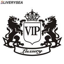 SLIVERYSEA 14CM * 11 CENTÍMETROS Adesivos de Carro de Luxo VIP Leão Criativa Funny Car Adesivo de Vinil e Decalques Da Janela DO PVC estilo do carro
