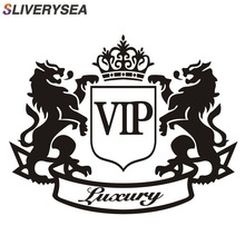 SLIVERYSEA 14CM*11CM Car Stickers Luxury Lion VIP Creative Window PVC Vinyl Funny Car Sticker and Decals Car Styling