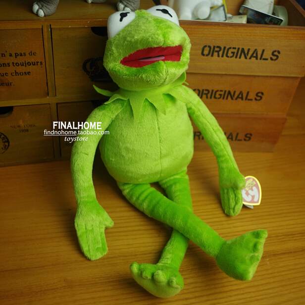 Free Shipping Hot Sale 14'' 40cm Kermit Plush Toys Sesame Street Doll Stuffed Animal Kermit Toy Plush Frog Doll Holiday Gift maggie and kermit hollywood