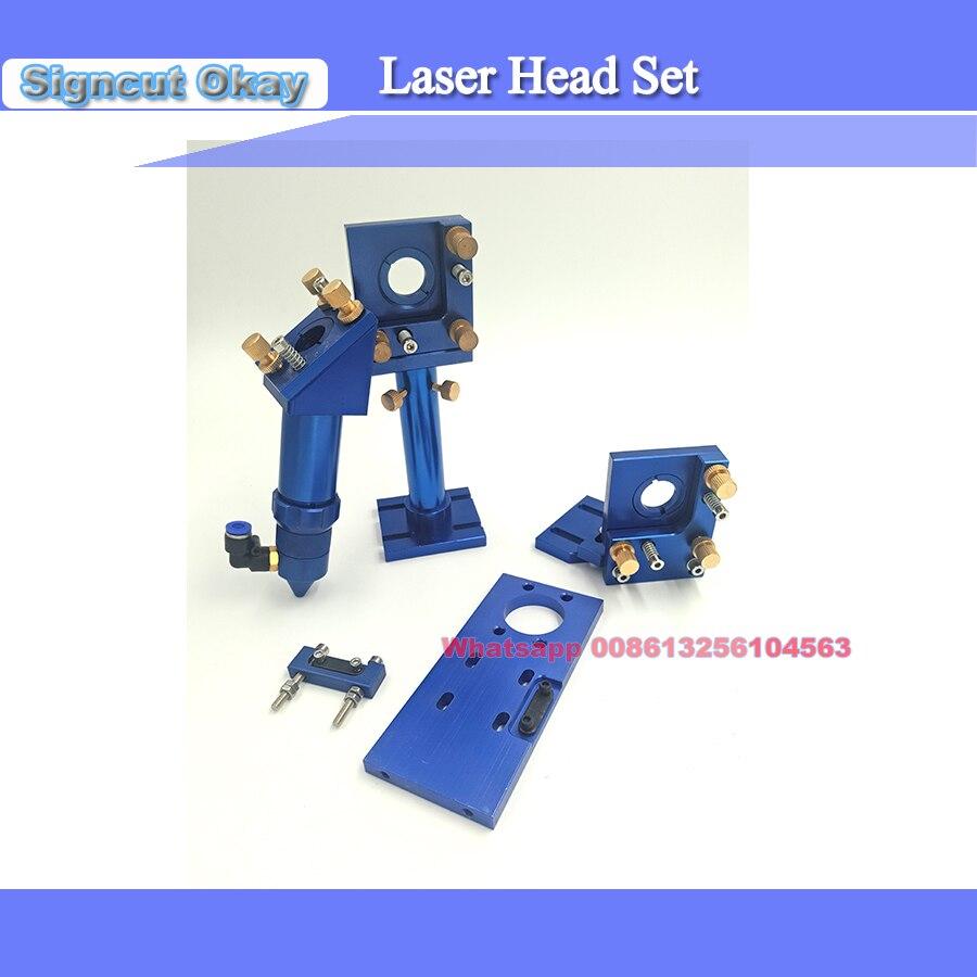 CO2 Laser Head Set / Mirror And Focus Lens Integrative Mount Houlder For Laser Engraving Cutting Machine 4030/3040/4060/6090