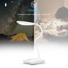 Ultralight Dimmable Eye-Caring Desk Lamp White LED USB Rechargeable Touch Control Table Light for Studying Reading
