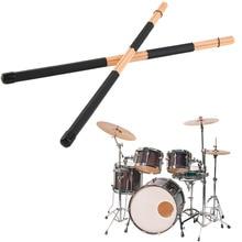 1 Pair High Quality WoodenHot Rods Rute Jazz Drum Sticks Drumsticks 40cm