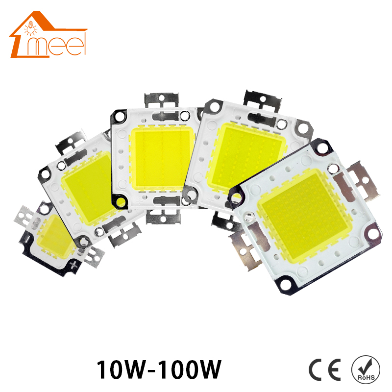 все цены на High Power Integrated 10W 20W 30W 50W 70W 100W DC 10V-32V LED Lamps Chip For Floodlight Spotlight Warm / Cold White онлайн