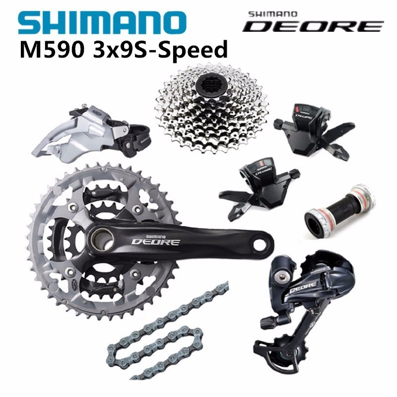 SHIMANO DEORE M590 3x9S 27S Groupset Derailleurs for MTB Mountain Bike Bicycle Racing and Training Parts