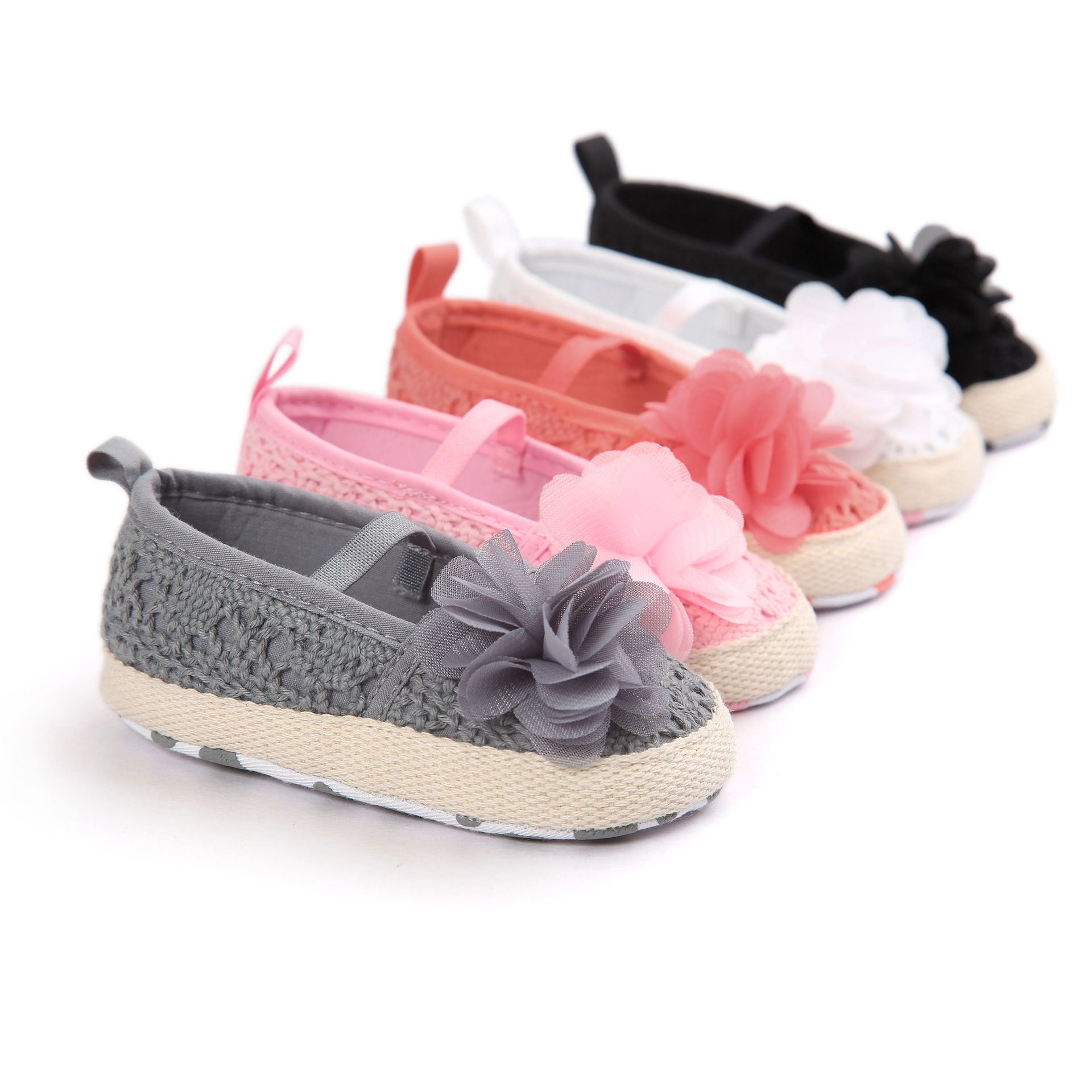 ᐃROMIRUS 2018 Cute Lace Flower Shallow Elastic Baby Girls First