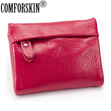 2014 New Arrival Fashion Style Hot-selling Women Short Style  wallet  Genuine Leather  pocket  7 colour  on Sale