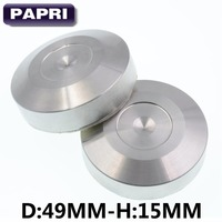 PAPRI 49MM-15MM 304 Stainless Steel Feet Pad DISCS For speakers,DAC CD players Amps Lot/4PCS