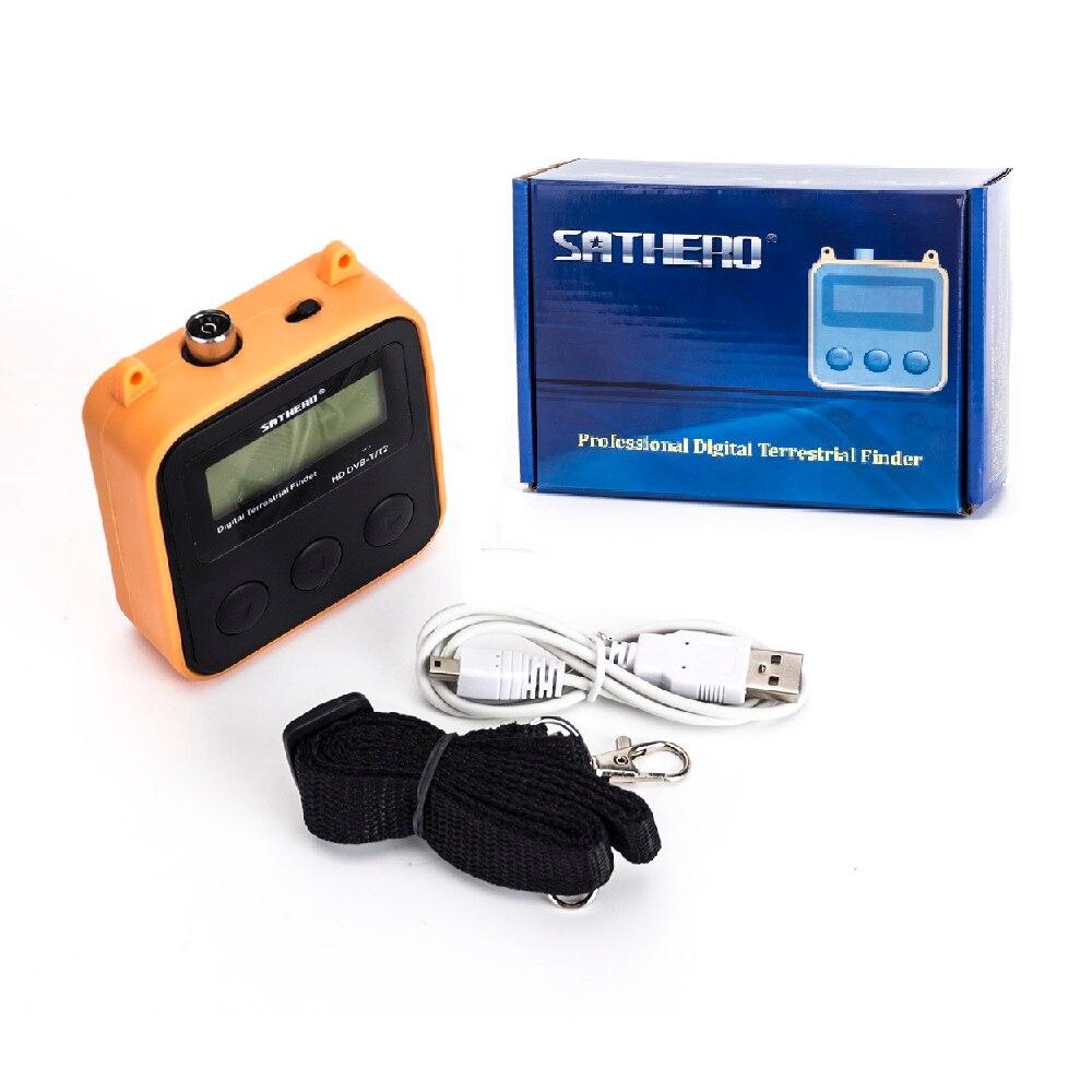 3 PCS/LOT [véritable] Sathero SH-110HD DVB-T DVB-T2 LCD numérique terrestre Finder Support QPSK Signal mètre meilleur satlink ws-6905